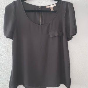 ☀️Forever 21 Black short sleeve Blouse -M